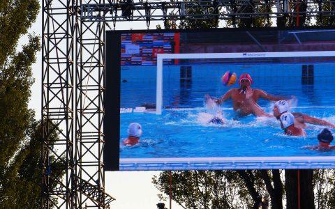 Mondiali Budapest 2017-Il gol di Muso sul maxi schermo